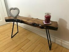 Stunning Solid Elm Natural Wood Coffee Table
