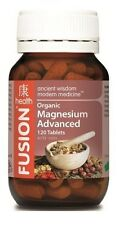 Fusion Health Organic Magnesium Advanced 120 Tablets Improved Formula Cramps