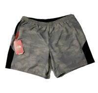 The North Face Men's Grey Ambition Dual Flashdry Shorts Zip Pocket Size 2XL