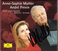 Anne-Sophie MUTTER Signiert Andre PREVIN Violin Concerto BERNSTEIN Serenade CD