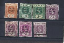 Ceylon KGV War Issues Mounted Mint Collection