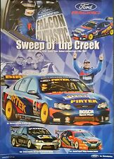 V8 Supercars Ford Racing Dealer Poster *Sweep of the Creek** 2003 **Rare**