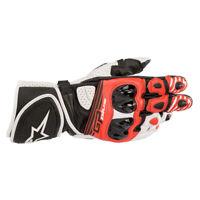 Alpinestars GP Plus R v2 Leather Sports Motorcycle Motorbike Gloves Red White