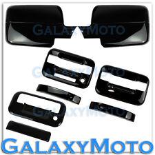 04-08 Ford F150 Black Mirror+2 Door Handle+keypad+no PSG keyhole+Tailgate Cover