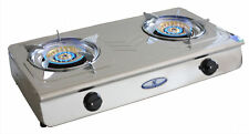 38MJ BestQuality Powerful LPG Cooktop Double Gas Burners BBQ FREE1.8MHoseRegulat