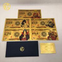5 type Japanese Hot Anime Naruto Sasuke Uchiha 5000000 Yen Gold plastic Banknote