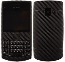 Skinomi Carbon Fiber Black Phone Skin+Screen Protector Cover for Nokia X2-01