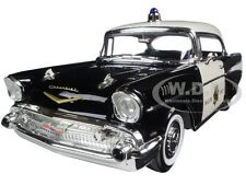 1957 CHEVROLET BEL AIR POICE 1:18 DIECAST MODEL CAR BY ROAD SIGNATURE 92107