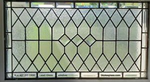 """Elegant Stained Glass  Window/ Transom 16"""" x 40"""" WoW"""
