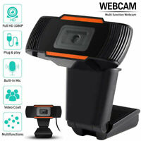 HD 1080P Rotatable 2.0 Webcam PC USB Camera Video Recording with Microphone Mic