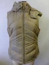 womens Ann Taylor Loft Down Vest Coat Parka puffer faux fur remove Hooded sz 4