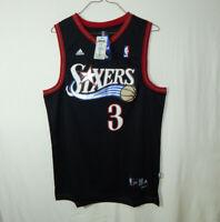 NWT Allen Iverson #3 Philadelphia 76ers NBA Basketball Jersey ADIDAS Swingman XL