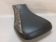 HONDA TRX500FE Seat Cover Fourtrax  Foreman 2-tone BLACK & CONCEAL GREEN INSERT