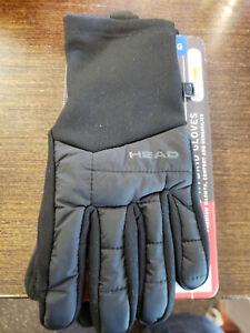 HEAD Men's Hybrid Touchscreen Running Gloves Size Large+ SENSATEC ~ Black ~