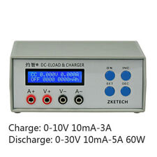 Battery Capacity Tester Charge 10V3A Discharge 30V5A60W Mobile Head Cycle Test