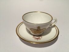 VINTAGE CAVERSWALL MINIATURE QUEENS JUBILEE  CUP AND SAUCER 1952-1977 M.GRANT