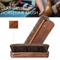 Natural Bristle Horse Hair Shoe Brush Boot Care Clean Shine Polish Dauber Care