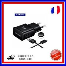 Chargeur Samsung Galaxy S8 Charge Rapide  2A Noir +Cable 1M USB Type C