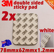 3M Double Sided Adhesive foam tape sticky pad white 9080EVA 78mmX62mm 2PCS