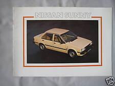 1982 Nissan Sunny Brochure Pub.No. S24.D261.60m.5.82