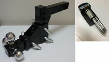 """Heavy Adjustable Tow Receiver Hitch Tri Ball 1 7/8"""", 2"""", 25/16 balls +Lock pin"""