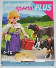 4778 Granjera terneros playmobil,lady,farmer,calf,vitello,especial,special