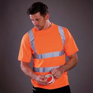 Yoko Hi-Vis Short Sleeve T-Shirt High Viz Tee Fluorescent Safety Work (HVJ410)