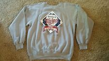 Vintage MLB Minnesota Twins 1987 Gray Sweatshirt World Champs TRENCH Buffalo NY