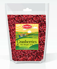 SUNBEST Dried Cranberries 3 Lbs in Resealable Bag