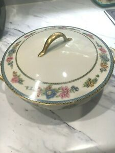 LIMOGES HAVILAND GDA CH FIELD Oval COVERED CASSEROLE Serving Dish Floral Patt