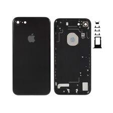 Chasis trasero Apple iPhone 7 negro mate carcasa Tapa Bateria logo y adhesivos