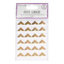 24 Photo Album Corners - Gold - Dovecraft - Scrapbooking Journalling Cards