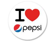 Magnet Aimant Frigo Ø38mm I Love J'Aime Pepsi Soda