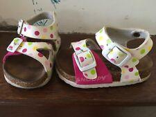 Sandaletti sandali in sughero e pelle bimba n.24 Snoopy