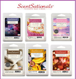 Scentsationals Scented Wax Cubes Melts EXTREMELY HIGHLY scented Brand New USA