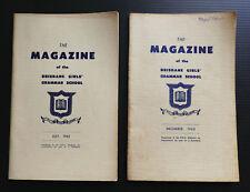 1963 BRISBANE GIRLS GRAMMAR School Annual Magazine Yearbook Year Photos History