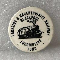 Lakeside & Haverthwaite Railway Blackpool Locomotive fund pin badge 30 mm