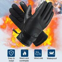 Unisex Electric Heated Gloves Waterproof Touch Motorcycle Outdoor for WarmWinter