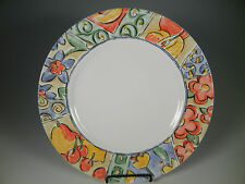 Corelle Vitrelle WATERCOLORS floral and fruit Dinner Plates 10 3/4 in.