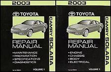 2003 Toyota Camry Solara Repair Manual Original Set SE SLE Shop Service Books