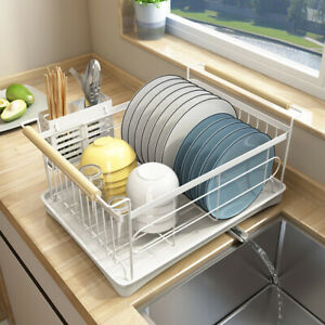 Modern Stainless Steel Kitchen Shelf Dish Drying Rack Storage Rack Tableware New