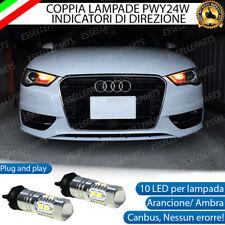 COPPIA LAMPADE LED PWY24W AUDI A3 8V CANBUS 10 LED FRECCE ANTERIORI NO ERRORE