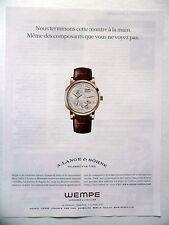 PUBLICITE-ADVERTISING :  A.LANGE & SOHNE Phases de Lune WEMPE  2014 Montres