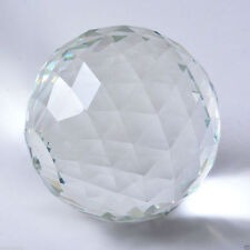 Clear Cut Crystal Sphere 60mm Faceted Gazing Ball Prisms Suncatcher Home Decor