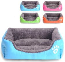 Pet Dog Bed Cushion House Cat Puppy Soft Warm Cozy Kennel Pad Mat Blanket S M L