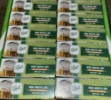 Ball Wide Mouth Suretight Canning Lids 12 Boxes 144 lids Brand New Free Shipping