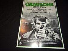 GRAUZONE  fredi m. murer rare affiche cinema suisse 1979