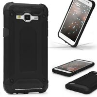 Samsung Galaxy J3 (2015) OUTDOOR Schutz Hülle TOP Cover Back Case Carbon Optik