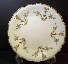 "Vintage plate Blakeman & Henderson Limoges  gold raised border & detail 8.5"""