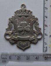 1900 Antique Vintage  Irish Shamrock Silver FOB  Medal (3)
